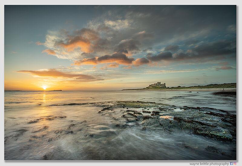 Bamburgh Beach Morning Tide - W5D45629