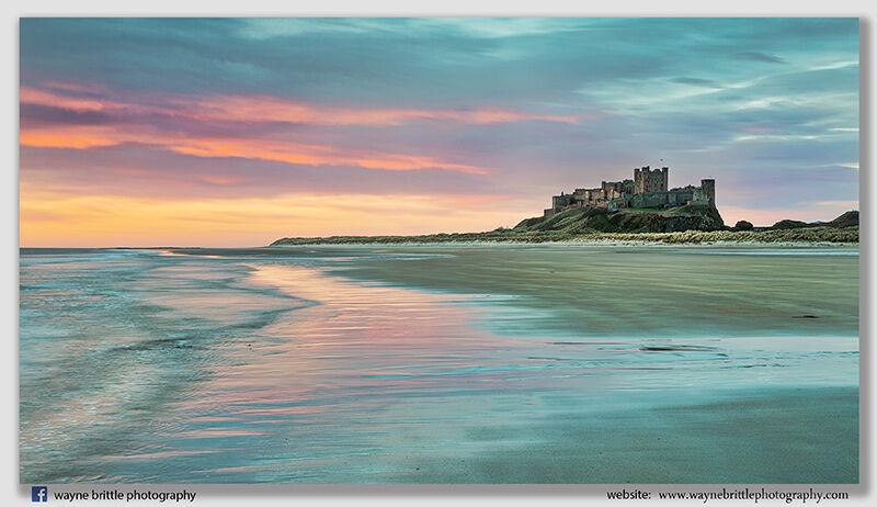 Bamburgh Castle  -  Dawn Light  -  Lv2  -  W5D41376