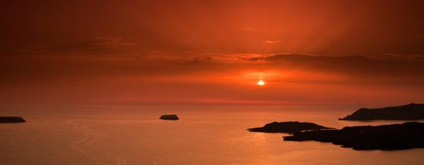 Caldera Sunset Pano 4