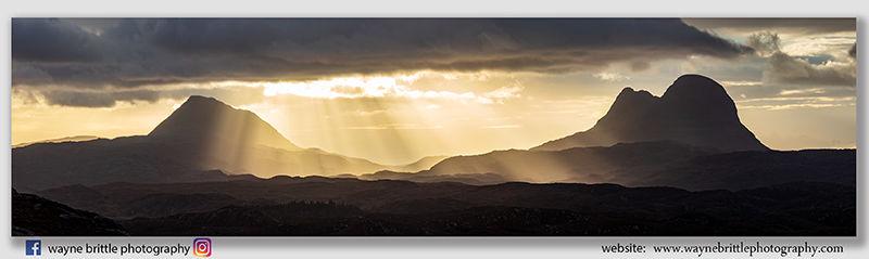 Canisp & Suilvan 'Breaking Light' Panorama