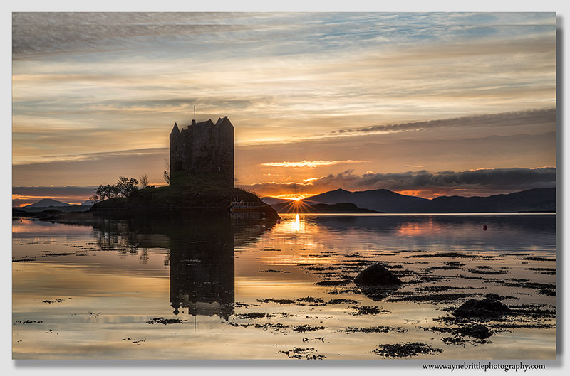 Castle Stalker Sunset 2