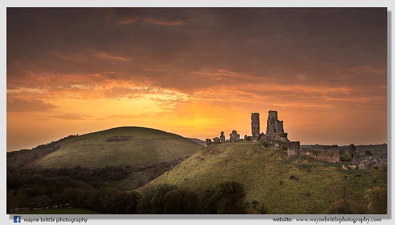 Corfe Castle - Before the Dawn