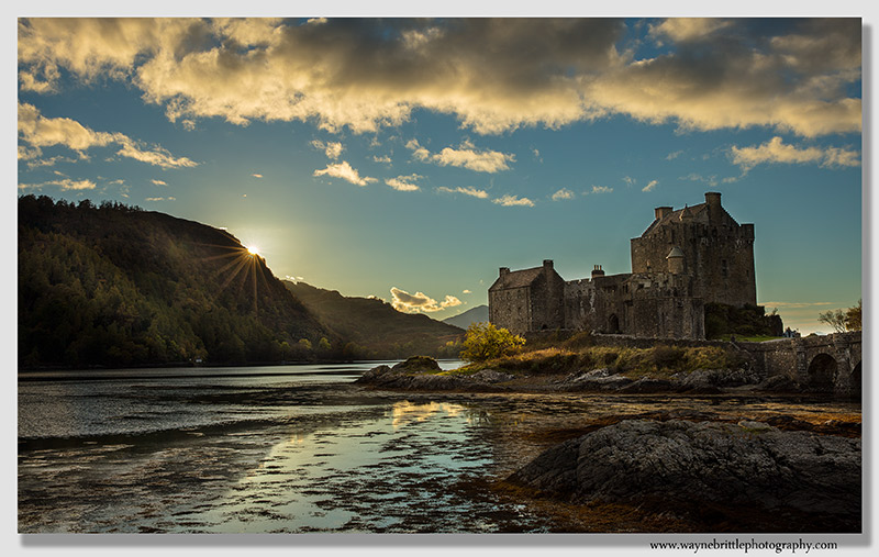 Eilean Donan Castle Sunlight