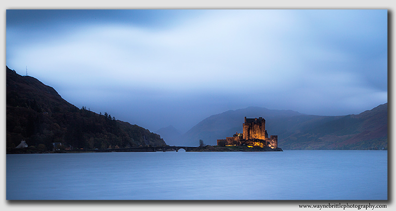 Eilian Donan Castle - stormy blues - Panorama