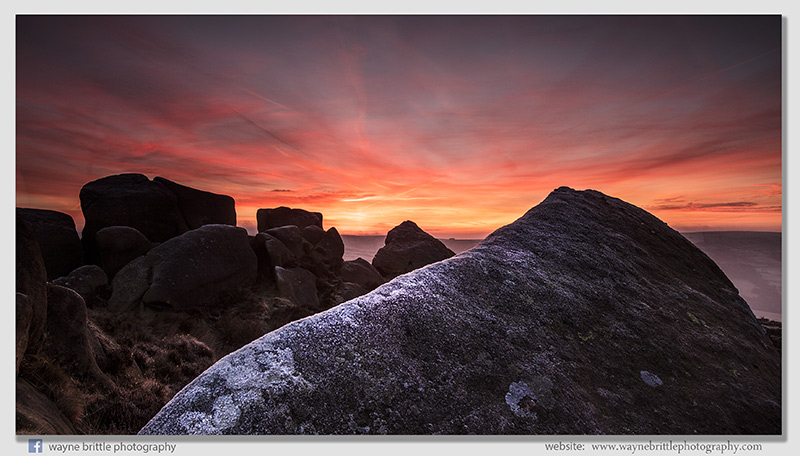 Frost, Rocks and the light of dawn