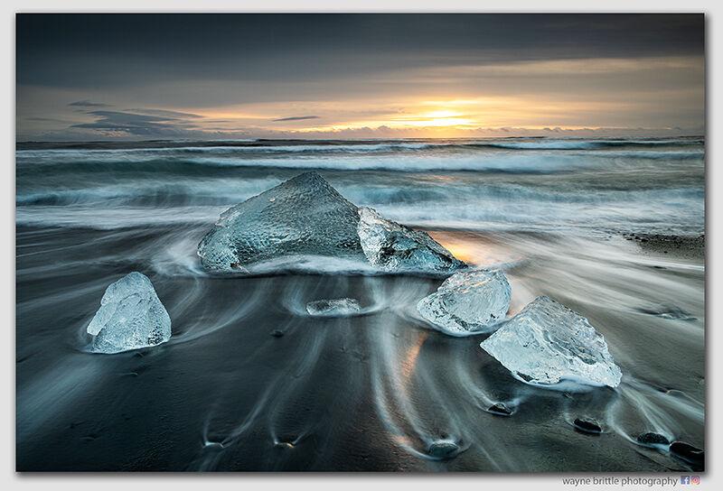 Ice Beach Sunrise 10  -  W5D42303