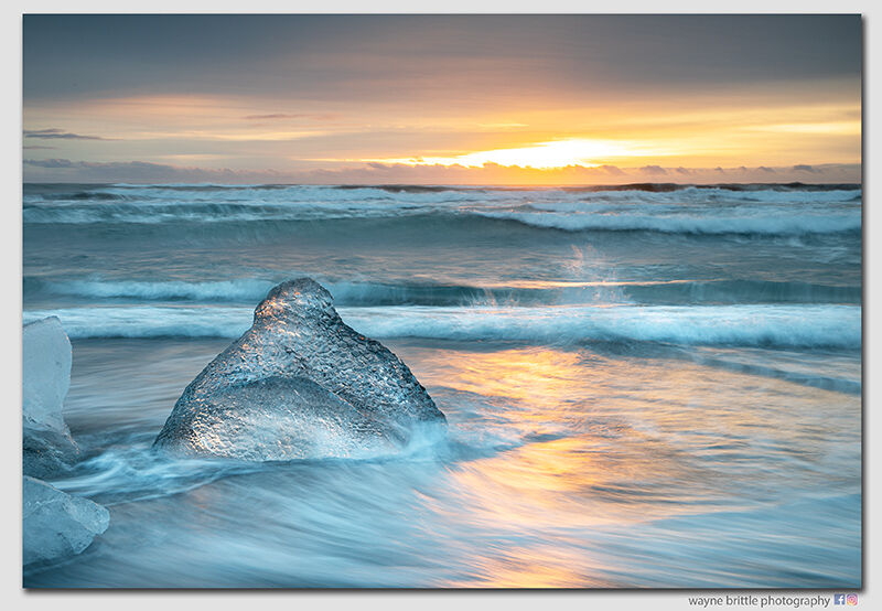 Ice Beach at Sunrise 3 - W5D4275