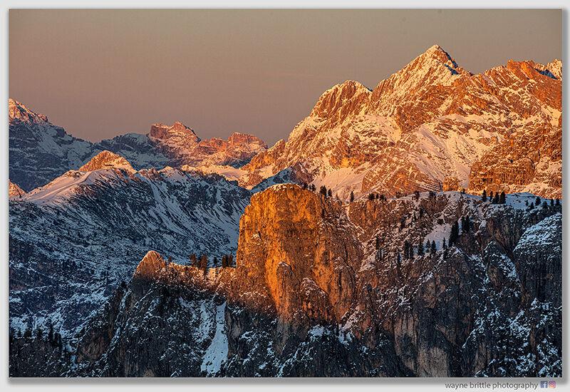 Last Light on the Dolomites and Jupiters Belt
