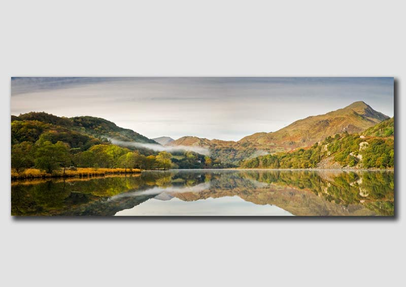 Llyn Gwynnant Autumn Reflection - WP064