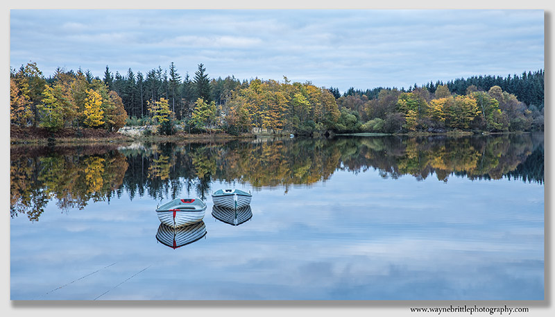 Loch Rusky Autumn Morning Reflections