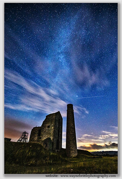Magpie Mine, Milky Way and Meteors - 44179