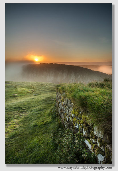 Sunrise over Hadrians Wall 2