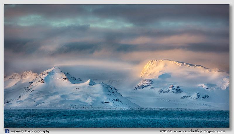 Mountains across the Icelandic Glacier 2