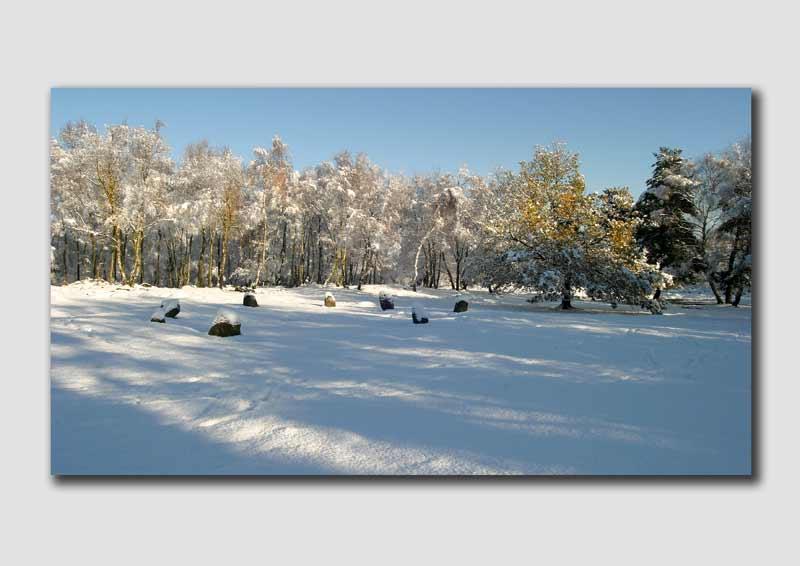 Nine Ladies Stone Circle in the snow  -  PP028