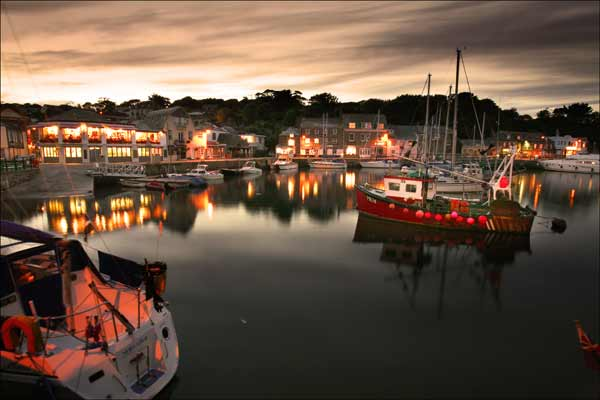 Padstow Harbour at Night - CS023