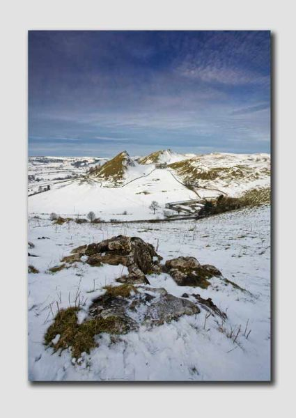 Parkhouse Hill and Chrome Hill in the Snow-SS222