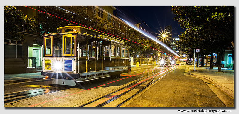 San Francisco Cable Car lights at Night - W5D36492