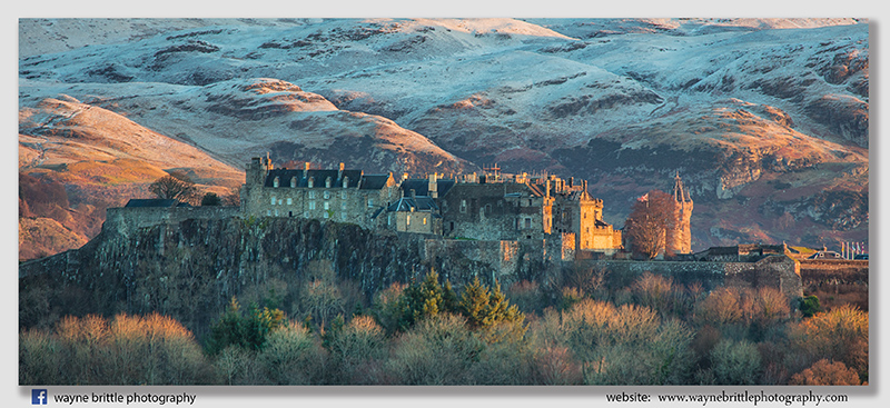 Stirling Castle and Winter Light Panorama
