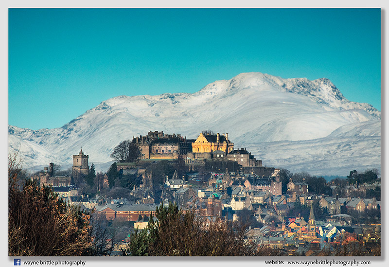 Stirling Castle and the distant snow capped mountains 2