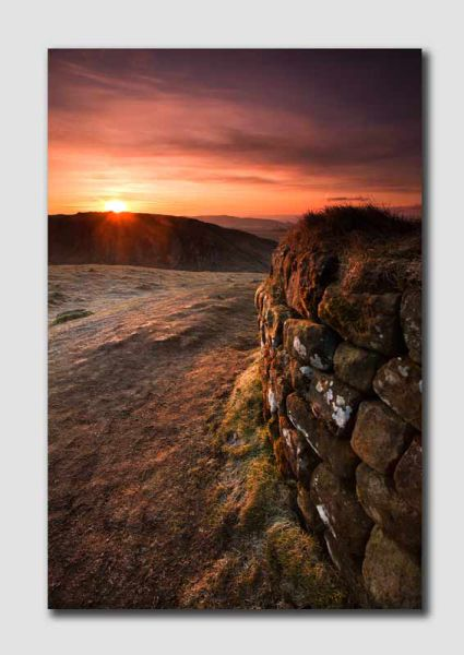 Hadrians Wall Sunrise 2 - N4827