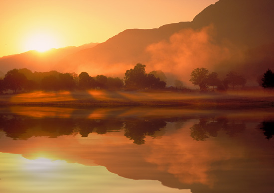 Sunrise in Snowdonia Reflection - R106