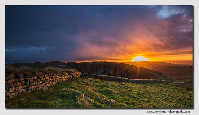 Hadrians Wall - Drama at Sunrise - W5D37330