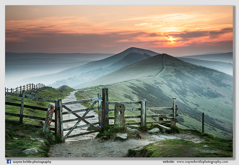Sunrise from the side of Mam Tor