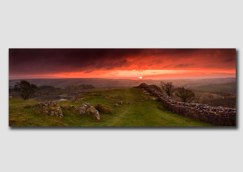 Sunset over Hadrians Wall 2 - NP142