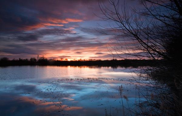 Sunset near Branston Water Park-SS164
