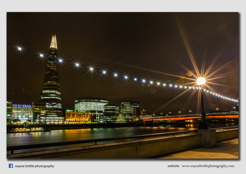 Thames and the 'Shard' in the evening