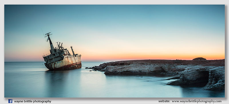 Edro III Shipwreck Panorama - Cyprus