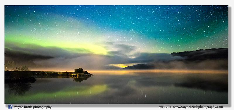 Midnight Aurora over Loch Ness 2