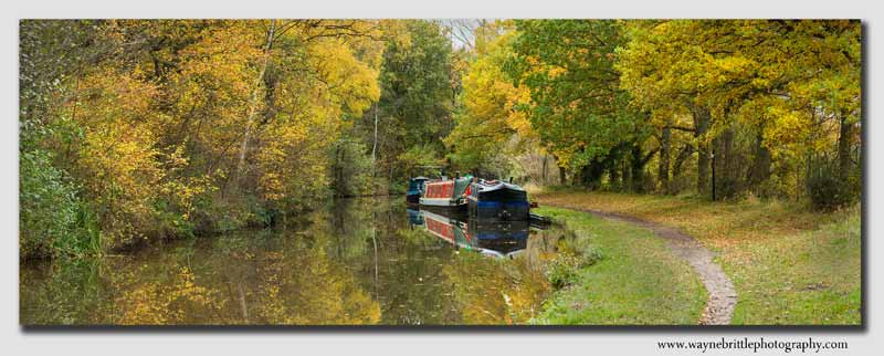 Trent and Mersey Autumn Canal Panorama - Staffordshire - SPW5D3