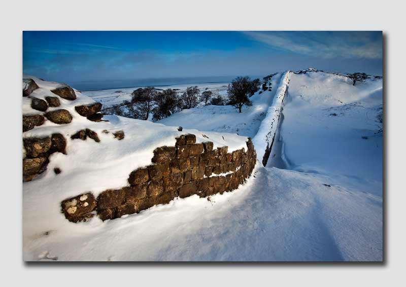 Winter Snow on Walltown Craggs - Northumberland NS8164
