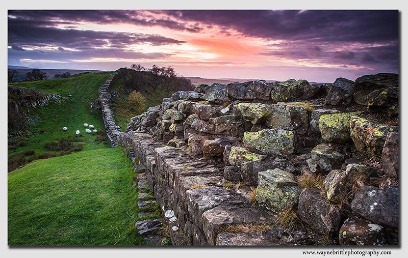 Walltown Sundown - Hadrians Wall - FX8A7490