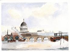Blackfriers  Bridge and St Pauls