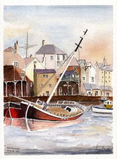 Boat at Anchor Rising Tide
