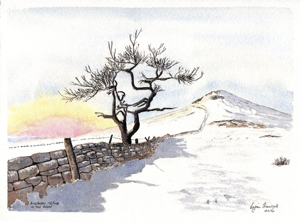 Roseberry Topping after Snowfall