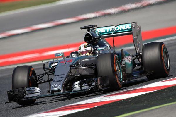 Lewis Hamilton on the limit