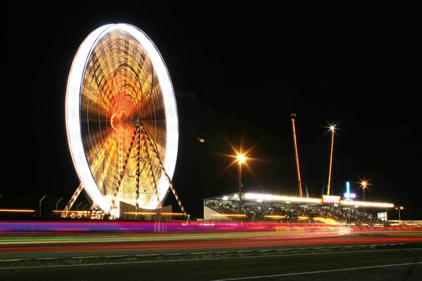 Le Mans night time
