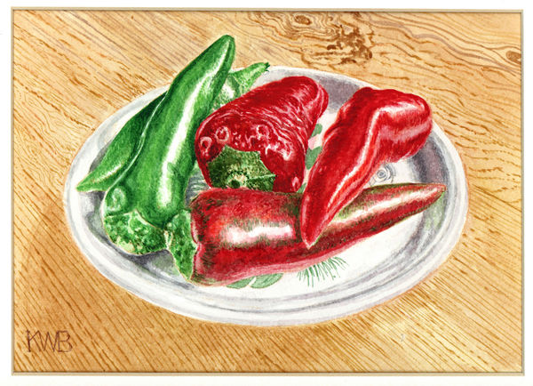 Peppers on a plate