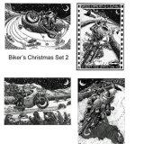 Biker's Christmas cards Set 2