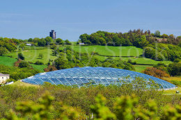 325 NATIONAL BOTANIC GARDEN OF WALES, WITH PAXTONS TOWER IN THE DISTANCE