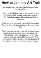 How to Join the Art Trail