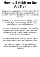 How to Exhibit on the Art Trail