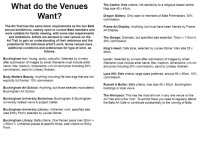 What do the Venues Want?