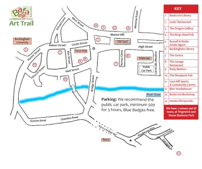 The Bafa Art Trail in Buckingham