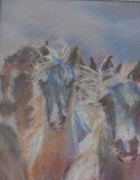 Wild Horses, pastels