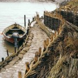 Burnham Willow Erosion  Project. Using a Brancaster Flat at Burnham Overy Staithe