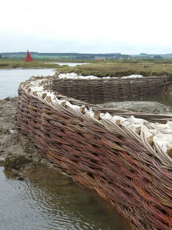 Burnham Willow Erosion Works Project. Burnham Overy Staithe
